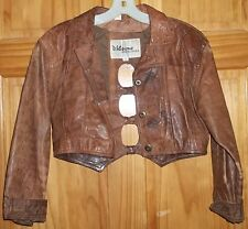 Gorgeous, Vintage Brown Wilsons Leather half jacket with peek a boo back S:Small