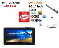 10'' ZOLL QUAD CORE HD 16GB TABLET PC ANDROID 4.4 KITKAT WIFI BT 3G WLAN USB SD