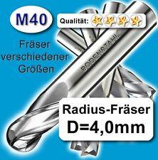 Rund-Fräser, D4 x 75mm, M40, Schaftfräser, vergl. HSSE, HSS-E
