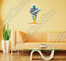 """Alien UFO Green Outer Space Bug Monster Wall Sticker Room Interior Decor 18""""X25"""""""