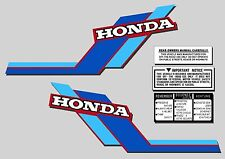 ATC 70 1984 Tank Stickers warning and advice set Honda Trike