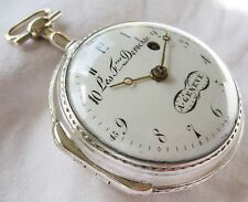 Beautiful Silver Swiss Verge Fusee pocket watch Les Freres Deroches ca 1775