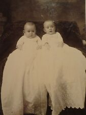 Cabinet Photo, Twins at 6 months, Constantine MI, Avery Studio 1890-1910 Vinta