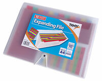 13 PART A4 EXPANDER FILE ORGANISER WALLET WITH ELASTIC CLOSER OFFICE