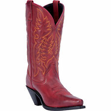New Womens Laredo Leather Madison Cowboy Boots Style 51005 Size 7 Red 191S rt