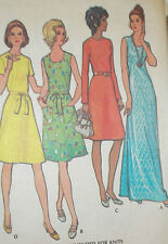 Vintage 1970s McCall's 3270 Plus Size Knit Dress Pattern 42B sz 38 Unct