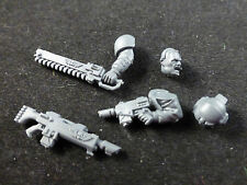 40K IG Cadian Shock Troops : Sergeant Bare Head / Laspistol / Chainsword / Etc