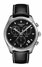 New Tissot PR100 Chronograph Mens Leather Strap Watch T1014171605100