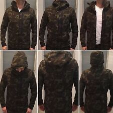 Nike Tech Fleece Hoodie Men's  AW77 CAMO KHAKI SEQUOIA BLACK 678950 355 SIZE S