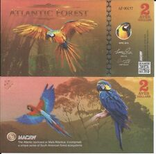 ATLANTIC FOREST BILLETE 2 AVES DOLLARS 2016