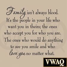 Family Isn't Always Blood Wall Decal Saying Home Decor Stickers Quotes Vinyl