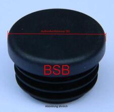 10 Lamellenstopfen  25 mm WS 1 - 2,5 mm rund  schwarz Endkappen