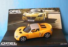 OPEL SPEEDSTER 2000 2005 YELLOW WITH SILVER ROOF IXO ALTAYA 1/43 ROAD CARS
