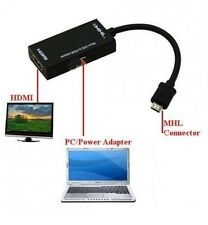 1080p MICRO USB TO HDMI MHL CABLE ADAPTER FOR HTC One M8 LG Sony Xperia Z1