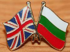 UK & BULGARIA FRIENDSHIP Flag Metal Lapel Pin Badge Great Britain