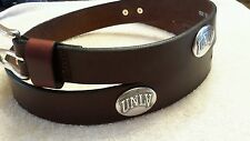 "UNLV Hey Reb University Brown Genuine Leather Belt with Conchos 36"" New Football"
