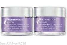 NUTRIMETICS RESTORE ANTI-AGING DAY CREME SPF 15 60ML X 2 RRP $124