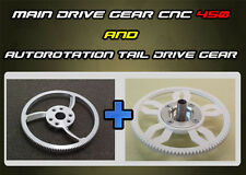 Main Drive Gear CNC & Autorotation Tail Drive Gear for T-Rex 450 V2,Pro,Sport