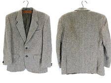 Vintage VGC Harris Tweed Herringbone Blazer Sports Jacket Brown Beige 38 Medium