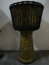 "50CM LEOPARD SKIN PRO AFRICAN  ELITE DJEMBE DRUM - 10"" HEAD, HAND MADE IN BALI"