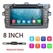 for 2007-2013 Toyota Corolla 8' 2 DIN Car Stereo Radio DVD Player+GPS-Navi BT