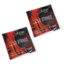 2 sets Cello Strings Set ASM DT808 Nickel Chromium Wound Steel Core