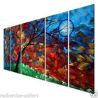 Metal Wall Hanging Set Contemporary Sculpture 5 Panels Abstract Home Wall Decor