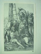 ALBRECHT DURER VINTAGE Rame incisione lamenti su Cristo-PASSIONE N. 12