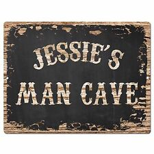 PP2969 JESSIE'S MAN CAVE Plate Chic Sign Birthday Father's Day Decor Gift