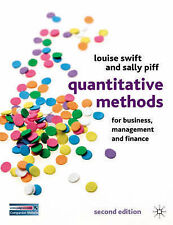Quantitative Methods for Business, Management and Finance by Louise Swift, Sall…