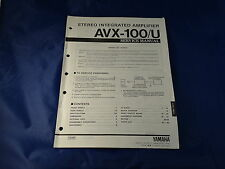 Yamaha AVX-100/U Stereo Integrated Amplifier Service Manual