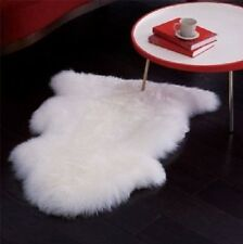 Faux Fur Sheepskin White Area Rug Flokati Shaggy Rug 2 x 3 Sheep Shape White