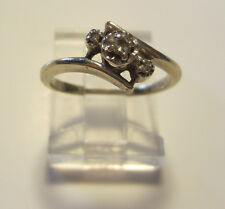 14k Yellow Gold Natural Diamond Engagement Ring Size 4.5