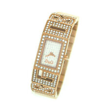 NEW DOLCE AND GABBANA ROSE GOLD TONE CRYSTAL LADIES WATCH DW0288