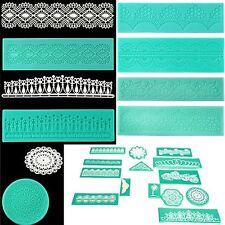Silicone Lace Shaped Mold Sugar Craft Embossing Mould Fondant Cake Tools JL