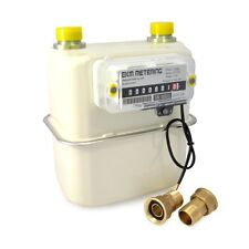 "3/4"" Gas Meter w Pulser for Space BTU Heater Shop Pool Volume Cubic ft Count #40"