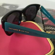 Kate Spade NY Adanna/s B210 Black Turquoise +1.00 Reading Sunglasses NWT Case