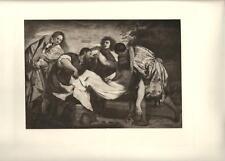Stampa antica TIZIANO DEPOSIZIONE DI CRISTO MORTO vangelo 1890 Old antique print