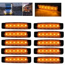 10PCS 12V 6LED Side Marker Light for Truck Trailer Indicator Signal Lamp Yellow