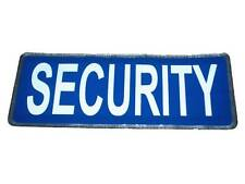 Blue SECURITY Reflective Badge (Small) for Guard Patrol SIA Bouncer