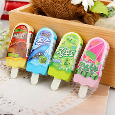 Colorful Ice Cream Eraser Soft Rubber Students Funny Stationery Random Color