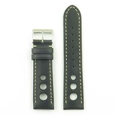 DASSARI Carrera Vintage Italian Leather GT Rally Racing Mens Watch Strap Band