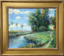 "Bart ""Santa Barbara"" Original Oil Painting on Canvas Framed Fine Art OBO"