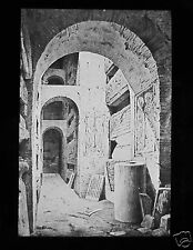 Glass Magic Lantern Slide THE CATACOMBS GALLERY C1890 ITALY ROME ROMA