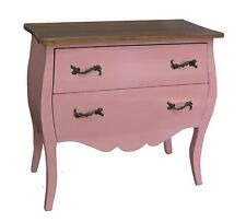 Shabby Chic Painted French Style Chest of Drawers / Bedroom Pink