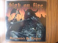 """HIGH ON FIRE """"SURROUNDED BY THIEVES""""1st PRESS RED VINYL PLAYED ONCE AS NEW SLEEP"""