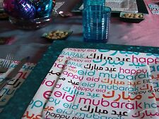 HAPPY EID FONT DESSERT PLATES / ISLAMIC PARTY / MUSLIM CELEBRATIONS BEST GIFT