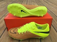 Nike Tech Craft Hypervenom Phinish II Leather FG Soccer Cleats Volt SZ 9