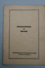 Leistungsbezeichnung für Mikrooptik, um 1940