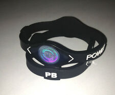 (2pcs) MEDIUM BLACK Power Band Bracelet Wristband for ENERGY - Ships From USA